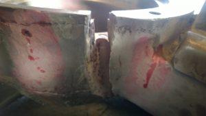 Korpus kruszarki stożkowej – badania nieniszczące oraz żłobienie i obróbka